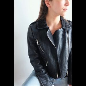 Faux leather jacket, like new condition